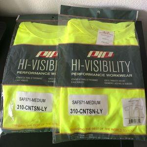 2 PIP Short Sleeve Hi-Visibility T-Shirt, Medium